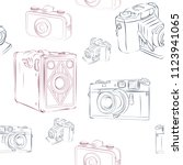 old photographic machines....   Shutterstock .eps vector #1123941065