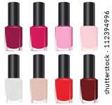 set of color nail polish.... | Shutterstock .eps vector #112394996