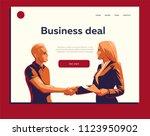 a man and a woman do a... | Shutterstock .eps vector #1123950902