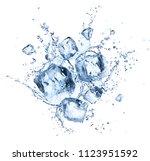 ice cubes splashing   cool... | Shutterstock . vector #1123951592