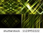 set of abstract dark green... | Shutterstock . vector #1123952222