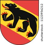 coat of arms of bern is the de... | Shutterstock .eps vector #1123956212