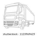truck vector illustration and... | Shutterstock .eps vector #1123969625