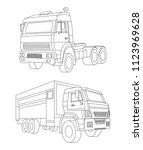truck vector illustration and... | Shutterstock .eps vector #1123969628