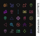 modern simple colorful set of... | Shutterstock .eps vector #1123977872