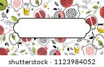 greeting banner with symbols of ... | Shutterstock .eps vector #1123984052