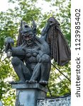 Gargoyle Statue In The Park....