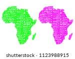 sketch african letter text...   Shutterstock .eps vector #1123988915