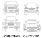 car isolated illustration icon... | Shutterstock .eps vector #1123992905