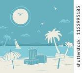 vector illustration vacation...   Shutterstock .eps vector #1123995185