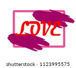 "the inscription ""love"".perfect... | Shutterstock . vector #1123995575"