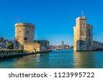 Port of La rochelle guarded by tour de la chaine and tour Saint Nicholas, France