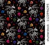 seamless pattern. skeleton of a ... | Shutterstock .eps vector #1123996295