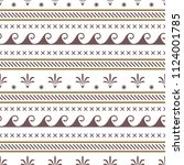 vector seamless abstract tribal ... | Shutterstock .eps vector #1124001785