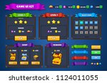 fantasy game ui kit complete. | Shutterstock .eps vector #1124011055