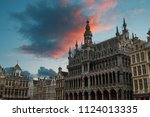 royal palace at the dam square  ... | Shutterstock . vector #1124013335