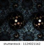 abstract swirls in bright... | Shutterstock . vector #1124021162