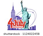 4th of july  independence day... | Shutterstock .eps vector #1124022458
