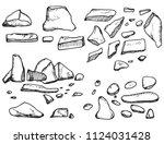 stones cobblestones pieces of a ... | Shutterstock .eps vector #1124031428