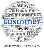 customer concept in word tag...   Shutterstock . vector #112403576
