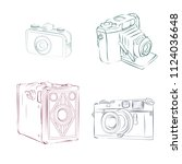 old photographic machines....   Shutterstock .eps vector #1124036648