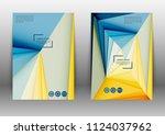 abstract color brochure design... | Shutterstock .eps vector #1124037962