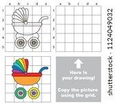 rainbow baby stroller  the... | Shutterstock .eps vector #1124049032
