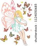 fairy princess vector | Shutterstock .eps vector #1124050685