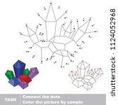 crystal deposit. dot to dot... | Shutterstock .eps vector #1124052968