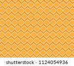 orange ornamental background | Shutterstock .eps vector #1124054936