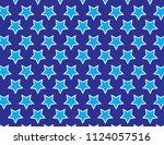 blue stars background | Shutterstock .eps vector #1124057516