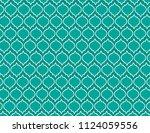 aqua ornamental background | Shutterstock .eps vector #1124059556