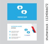 chat business card design... | Shutterstock .eps vector #1124066672