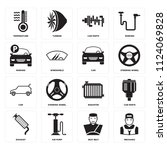 set of 16 icons such as... | Shutterstock .eps vector #1124069828