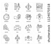 set of 16 icons such as skills  ... | Shutterstock .eps vector #1124070518