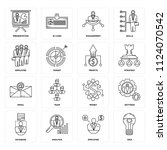 set of 16 icons such as idea ... | Shutterstock .eps vector #1124070542