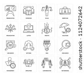 set of 16 icons such as... | Shutterstock .eps vector #1124072642