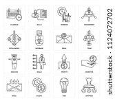 set of 16 icons such as... | Shutterstock .eps vector #1124072702