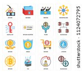 set of 16 icons such as... | Shutterstock .eps vector #1124072795
