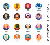 set of 16 icons such as mother  ...