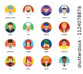 set of 16 icons such as doctor  ...