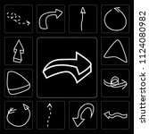 set of 13 simple editable icons ...   Shutterstock .eps vector #1124080982