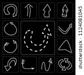 set of 13 simple editable icons ...   Shutterstock .eps vector #1124081045