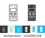 recorder black linear and... | Shutterstock .eps vector #1124081228