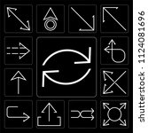 set of 13 simple editable icons ... | Shutterstock .eps vector #1124081696