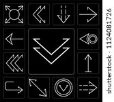 set of 13 simple editable icons ... | Shutterstock .eps vector #1124081726