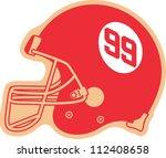 american football helmet | Shutterstock .eps vector #112408658