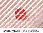 red minus circle icon on the... | Shutterstock . vector #1124101052