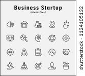 thin line icons set of business ... | Shutterstock .eps vector #1124105132