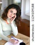 woman portrait  young woman... | Shutterstock . vector #1124109188